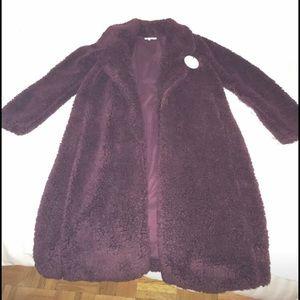 Long Violet Shag Coat